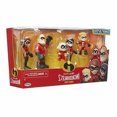 "The Incredibles 2Family Junior Supers Figures,Approximately 3""Tall"