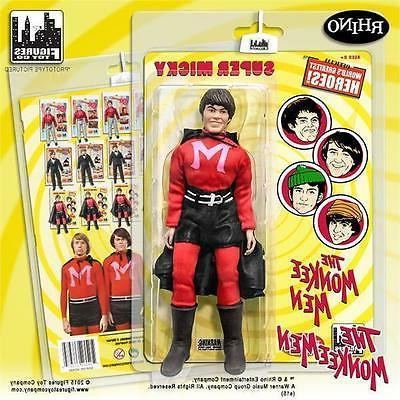The Monkees MICKY DOLENZ  8 inch Action Figures; Monkee men