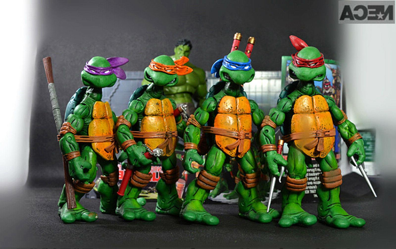 NECA TEENAGE NINJA TURTLES Colorful HEADBAND Action Figures