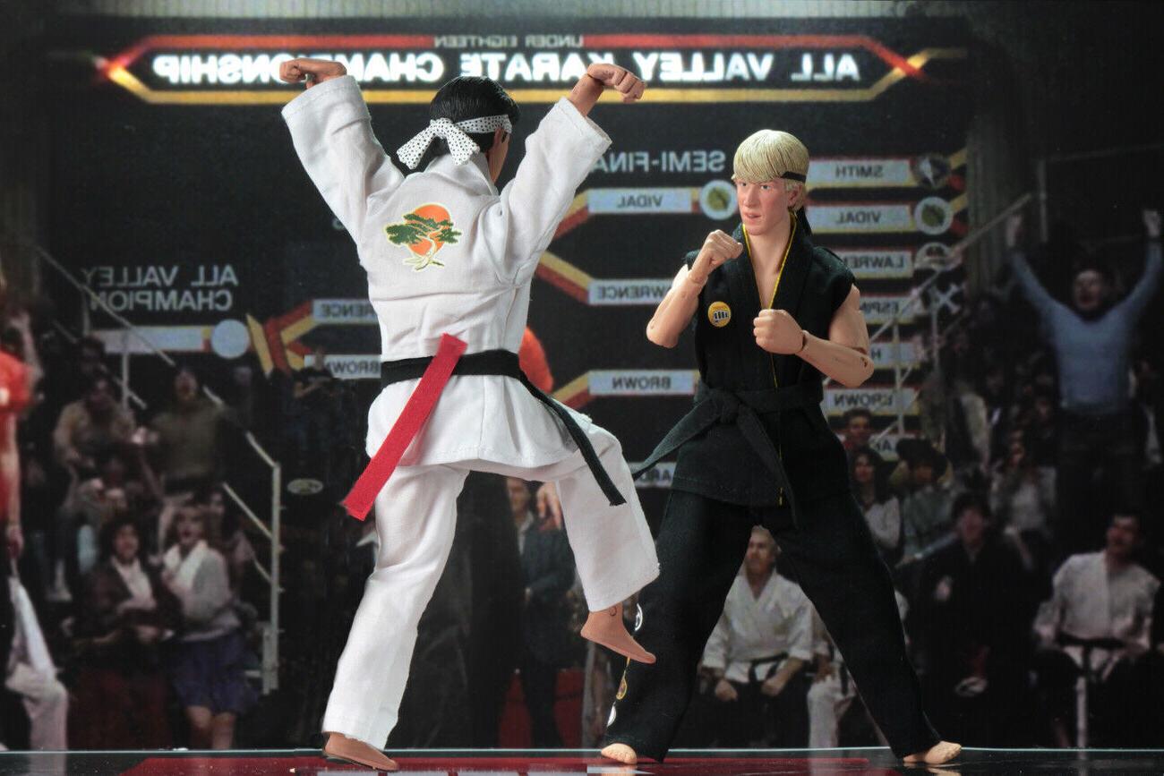 "NECA Tournament Karate Kid 8"" Action Figure vs Daniel NEW"