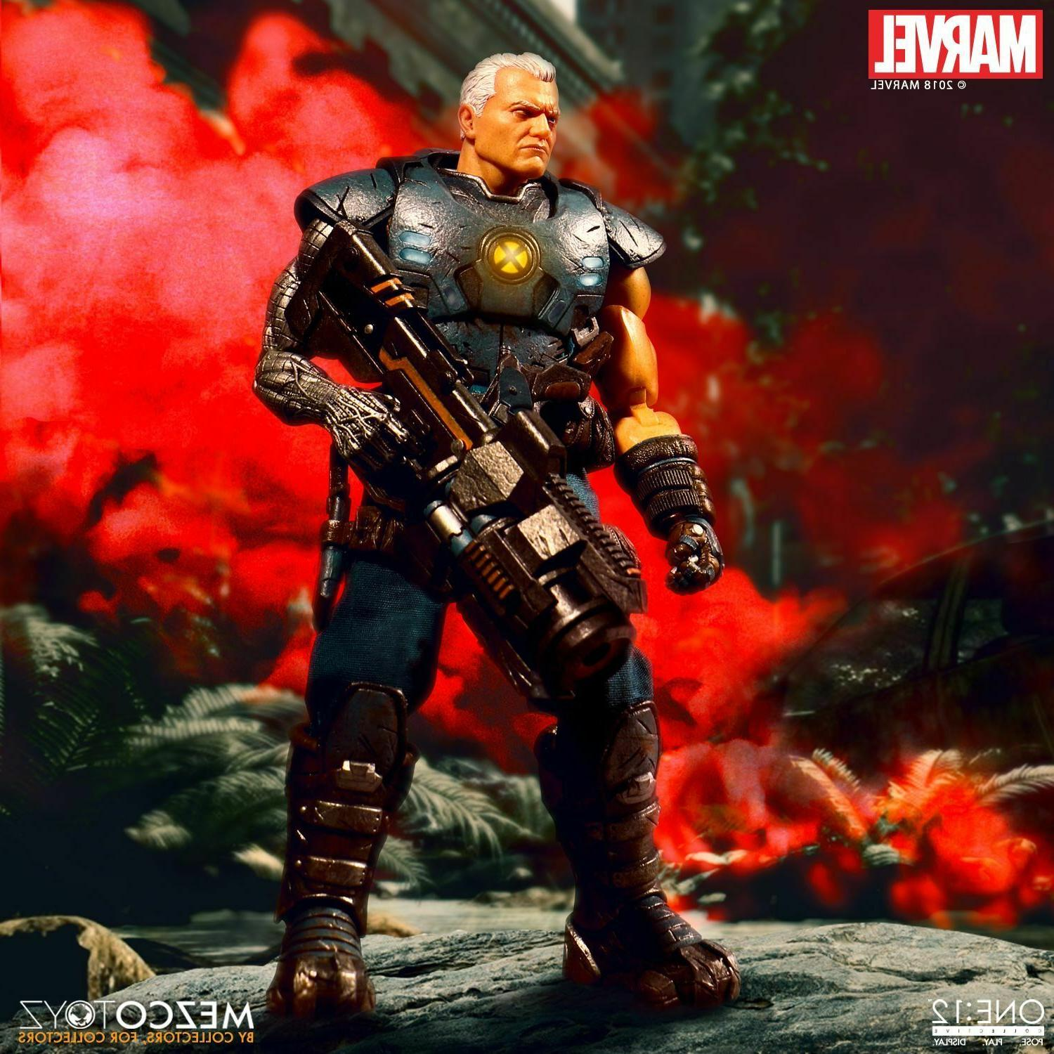 Mezco Toyz Collective Marvel Comics Cable Scale Stock
