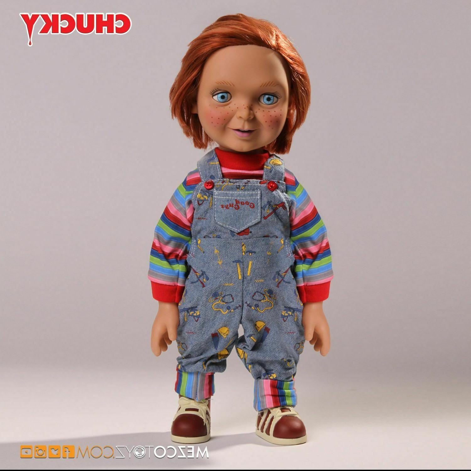 "Mezco Child's Play Mega Scale 15"" Good Guys Chucky Figure In"