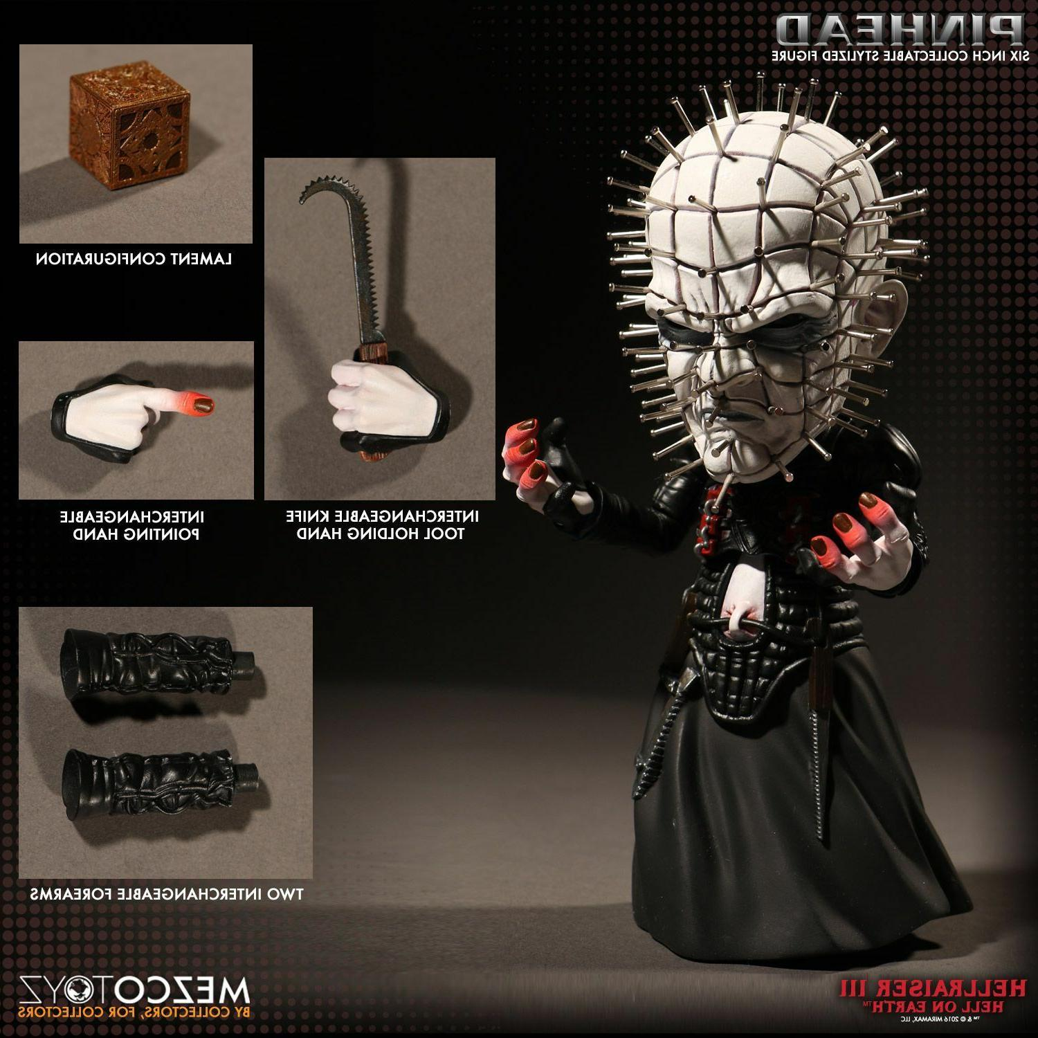 "MEZCO TOYZ HELLRAISER 6"" Roto Cube Deluxe On Earth"
