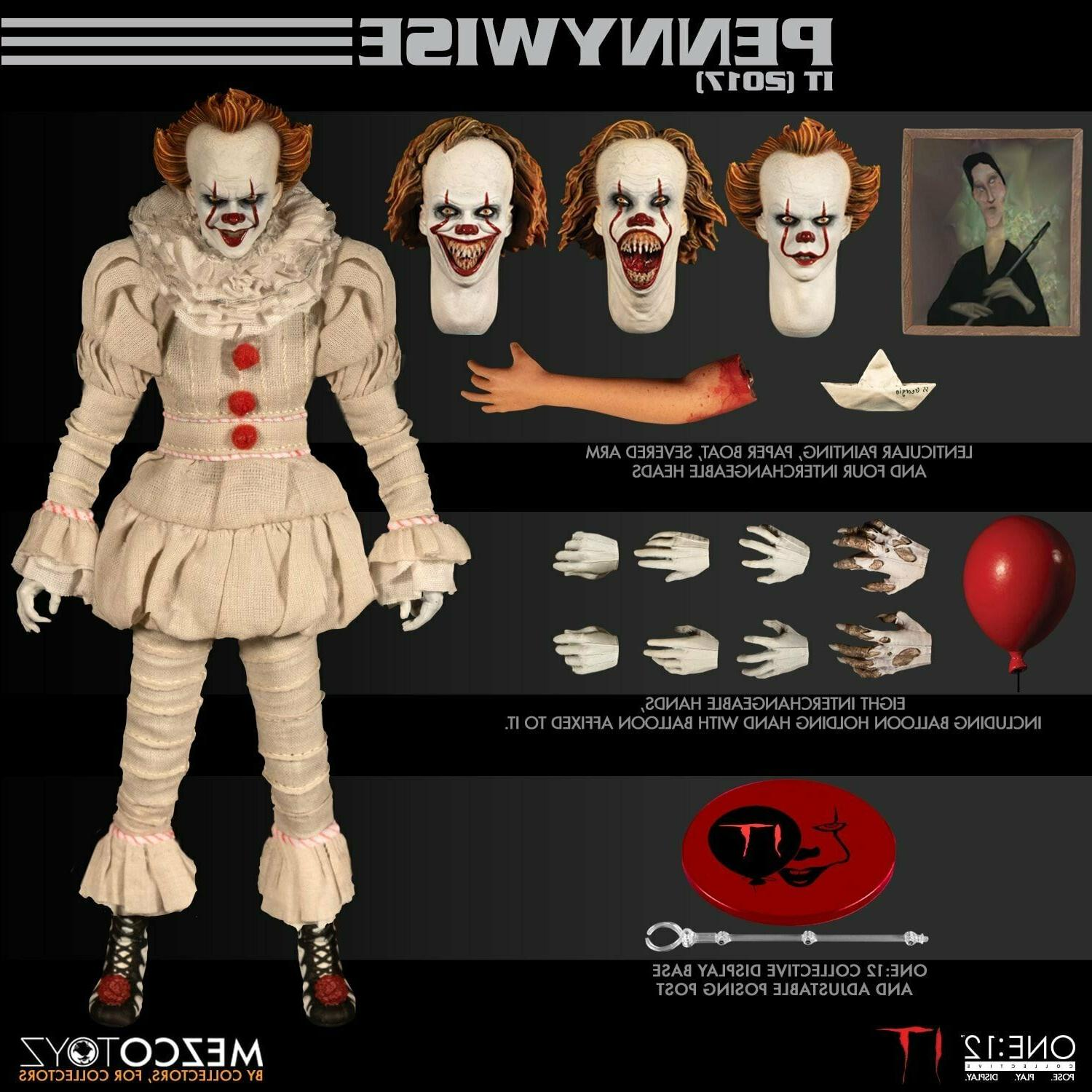 Mezco Toyz One 12 Collective IT 2017 Pennywise 1/12 Scale Ac
