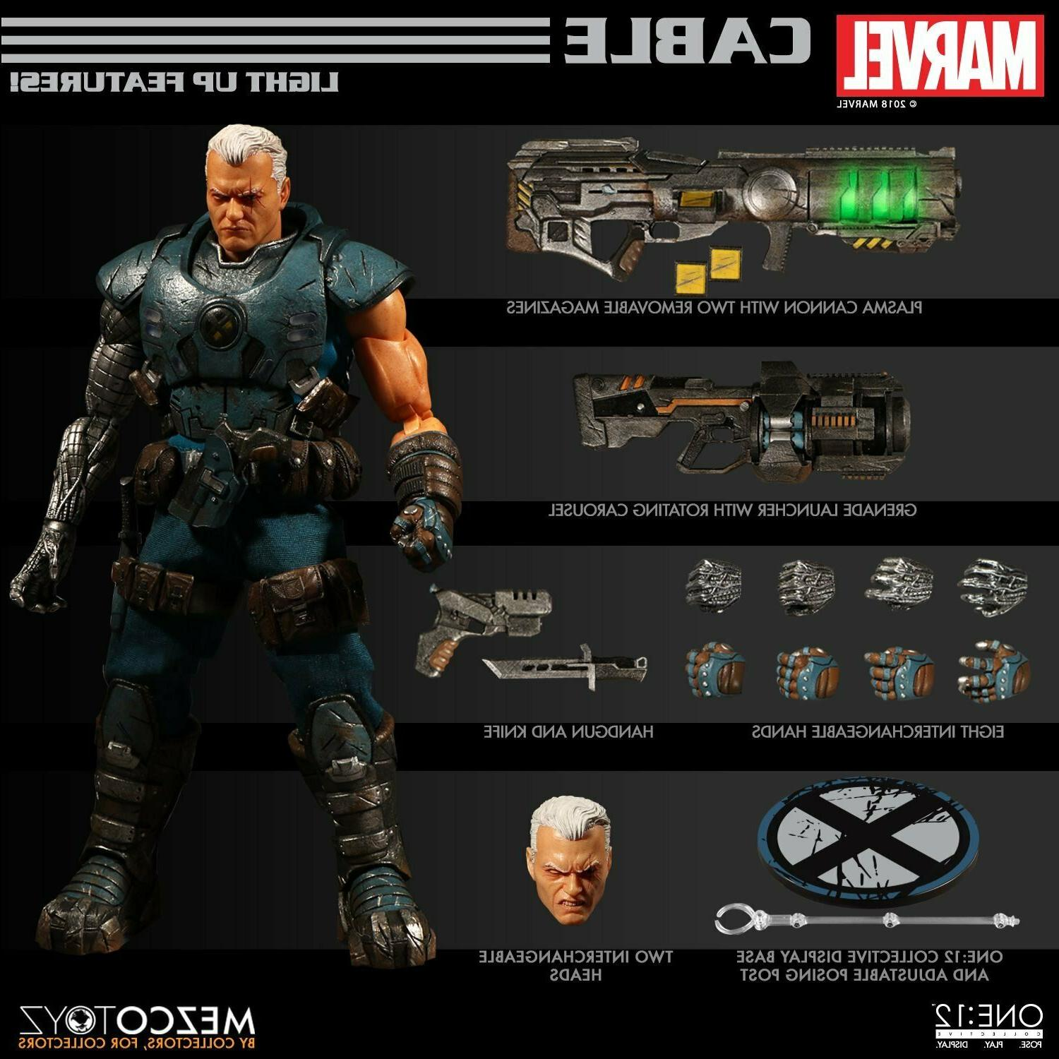 Mezco Marvel Comics Cable 1/12 Scale Figure New In Stock