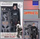 US 1/6 Soldier SWAT Black Uniform Model Military Army Suit 1
