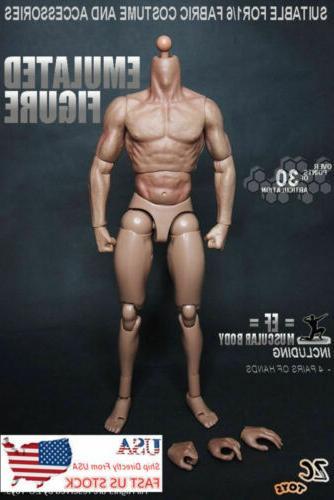 "USA 12"" Male Action Body 1/6 HT Man Head Model"