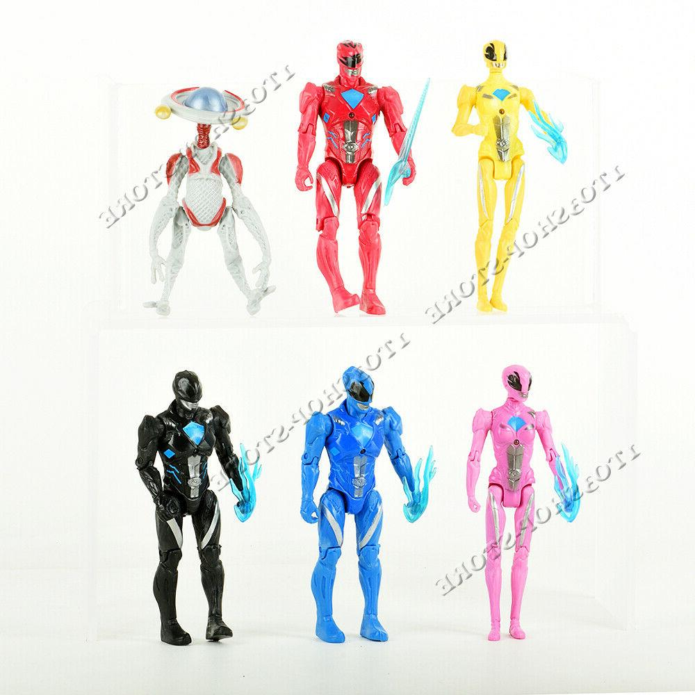 used 6pcs power rangers action figures set