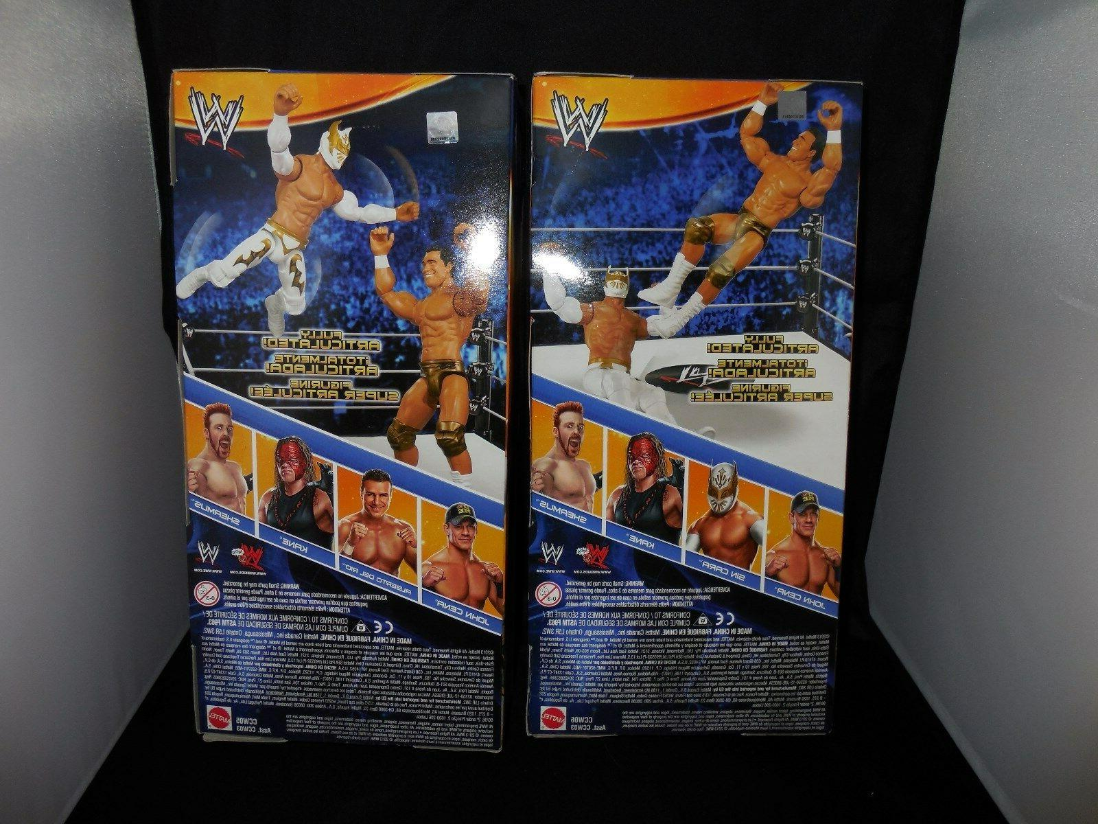 WWE Figures Kane, John Cena, Sin Alberto Del Sheamus NIP