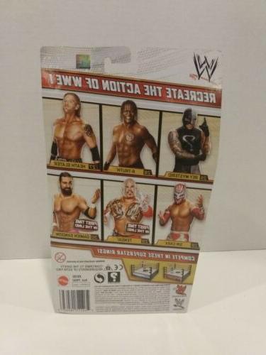 WWE Mattel Basic Series 28 Sin Cara Wrestling Action WWF Gold Rare