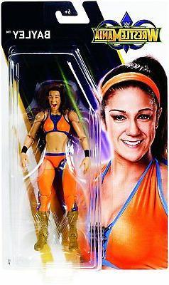 WWE Bayley Action Figure Wrestle Mania Mattel Toy NEW