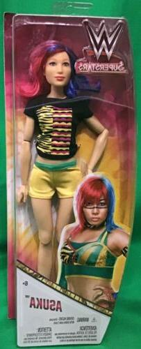 """Mattel WWE Superstars Divas Asuka Action Figure 12"""" Doll Gir"""