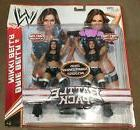 WWE Total Bellas Nikki & Brie Bella action figures with Cham