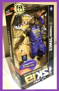 🔥LEBRON JAMES NBA 2K19 FIGURE x McFarlane LA LAKERS RARE