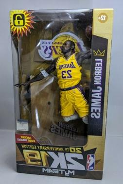 LeBron James NBA 2K19 McFarlane Action Figure Lakers, Yellow