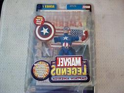 "Marvel Legends Captain America 6"" Action Figure Series 1 T"