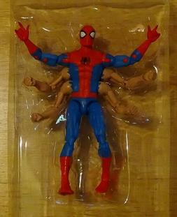 """MARVEL LEGENDS SPIDER-MAN SIX ARM 6"""" ACTION FIGURE BAF KINGP"""