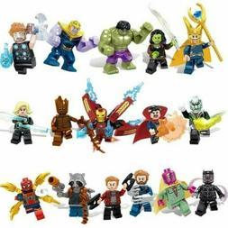 Lot/16pcs Marvel Super Heroes Avengers 3 Infinity War Action