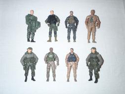 Lot 8 Loose BBI US Elite Force Action Figures USMC Army Navy