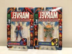 Lot of 2 Toy Biz Marvel Poseable Diecast Action Figures Doc