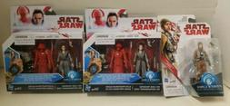 Lot Of 3 Star Wars Force LINK Action FIGURES:paige,rey,and E