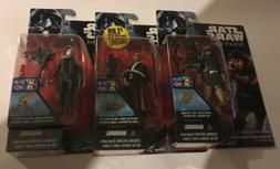 """Lot Of 3 Star Wars Rogue One 3.75"""" Action Figures New Cards"""