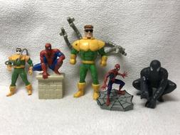 Lot of 5 MARVEL Figures 3 Spider-Man and 2 Doc Ock as shown!