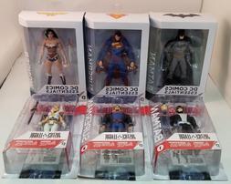 Lot of 6 DC Comics Action Figures ~Batman~Superman~Wonder Wo