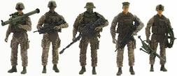 Elite Force Marine Recon Action Figures 5 Pack Military Toy