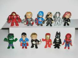 Marvel Avengers Super Heroes Mini Action Figures Lot Of 12