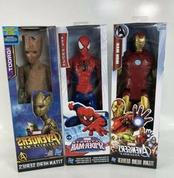 Marvel Avengers Toy Set 12 Inch Action Figures Iron Man, Spi