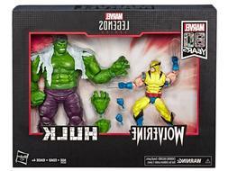Marvel Legends Hulk vs Wolverine 2 Pack Action Figures 6-Inc