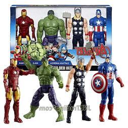 Marvel Titan Hero 12 Inch Figure Set - Captain America, Thor