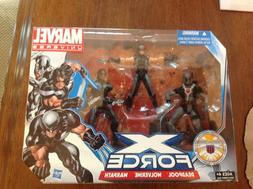 "MARVEL UNIVERSE 3.75"" X-FORCE SET DEADPOOL,WOLVERINE,WARPATH"