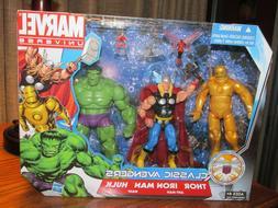 Marvel Universe Classic Avengers Figure Set Thor, Iron Man,