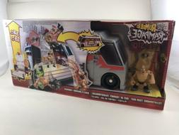WWE Mattel Rumblers Rampage transforming tour bus NIB NEW Ol