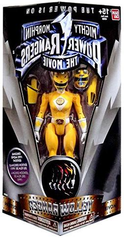 "Mighty Morphin Power Rangers The Movie Yellow Ranger 5"" Acti"