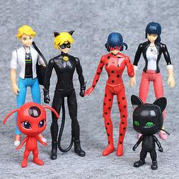 Miraculous Ladybug Tikki Noir Cat Plagg Adrien 6 PCS Action