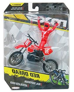 MXS MotoCross Red Bike Red Dread 39 Action figure