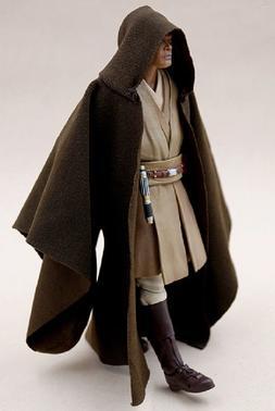 """MY-R-MW: FIGLot Jedi Fabric Cloak Robe for 6"""" Star Wars Mace"""