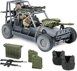 Click N' Play Military Desert Patrol Vehicle  Buggy Jeep 1