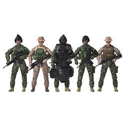 Elite Force Navy Seals Action Figure 5-Pack Plus Bonus Halo
