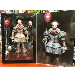 IT Bloody Version Pennywise Clown Action Figure Movie Doll N