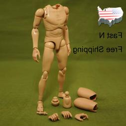 New 1:6 Scale Narrow Shoulder Male Body Action Figure for TT
