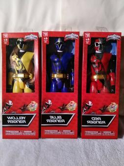 """NEW! 3 Lot Power Rangers Action Figures 12"""" Ninja Steel 4362"""