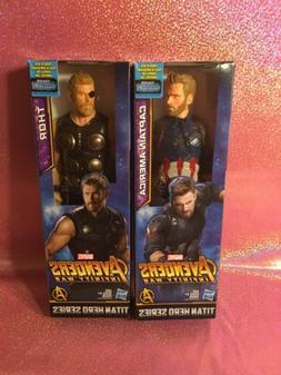 New Marvel Avengers Set: Captain America And Thor 12 Inch Fi