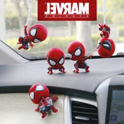 new cute spiderman bobble head figure car