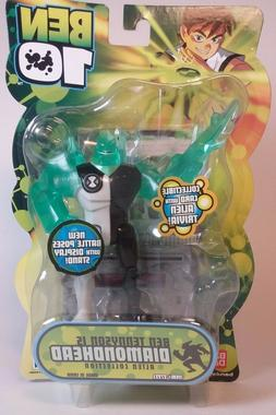 "New DIAMONDHEAD - Ben 10 - 4"" Action Figure - 2008 BATTLE VE"