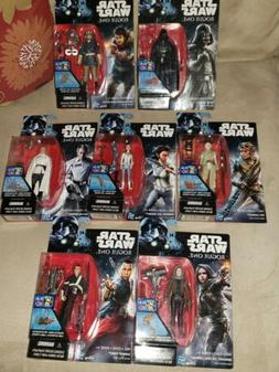 New Lot of 7 STAR WARS Rogue One Hasbro Action Figures 3.75""