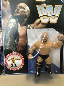 new sealed wwe retro wrestling figure stone